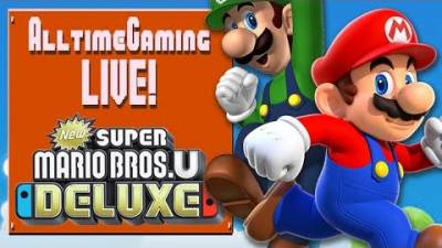 You Play Together, You Die Together | First Look Super Mario Bros U Deluxe Gameplay LIVE