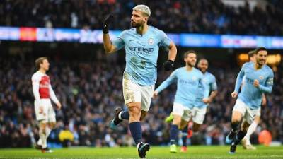 MANCHESTER CITY 3-1 ARSENAL | SERGIO AGUERO HATTRICK FINISHES ARSENAL!